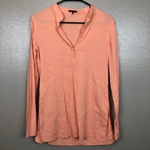 Salmon colored Theory long sleeve top/blouse